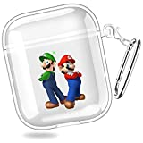 Super Mario Bros Mario amp Luigi Superstar Saga New Super Mario Bros Mario amp Luigi Dream Team Transparent Shell Case Cover for AirPods 1/2 XTBD-687
