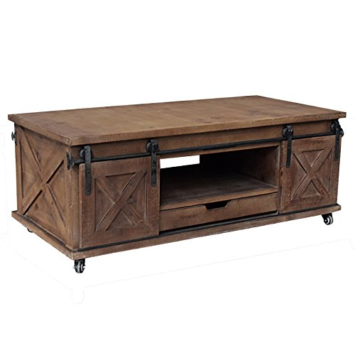 L'ORIGINAL DECO Large Industrial Coffee Table Countryside Wood Living Room 120 cm