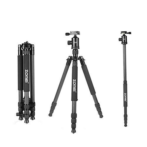 Zomei Z818C Portable Compact Photo Video Carbon Fibre Tripod Includes...