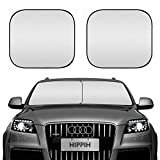 Best Sunshade For Cars - HIPPIH Decor 2 Pack Car Windshield Sun Shade Review