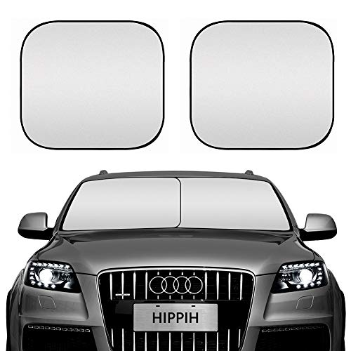 hippih Decor 2 Pack Car Windshield Sun Shade - 28'' x 31'' Foldable Sunshade for UV Protection and Heat Reflector - Keep Your Vehicle Cool(28'x31' - 2 Pack)