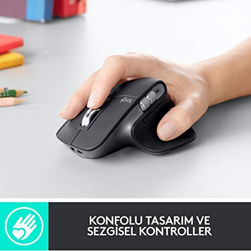 Logitech MX Master 3 Advanced Maus – Schwarz – Business Edition [Dual Connect, 2,4GHz & Bluetooth] - 3
