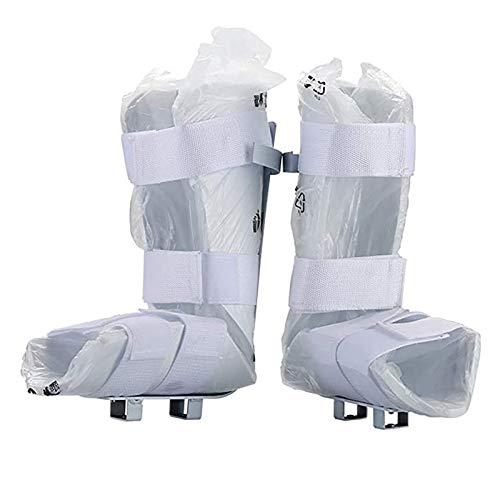 RTDotey Comfort Soft Filip/Pierna Soporte para Fisioterapia Electrónica Y Entrenador Motorizado De Pedal De Bicicleta De Rehabilitación, 1 Par,Blanco