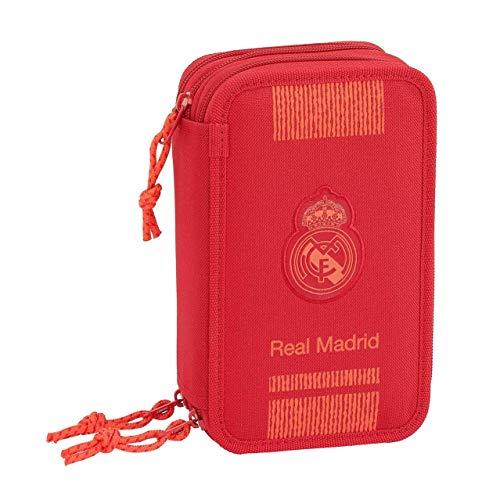 Real Madrid Estuches Unisex Adulto Plumier Triple 41 Piezas Red 3' 3 equipacion 18/19 411957-057, Multicolor, Talla única