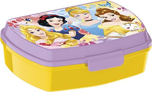 ALMACENESADAN 2056 Sandwichera Restangular Multicolor Disney Princesas Forever; Producto de plástico; Libre BPA; Dimensiones Interiores 16,5x11,5x5,5 cm
