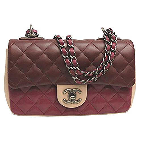 Chanel Womens Tri-color Leather Flap Chain Shoulder Bag A92632