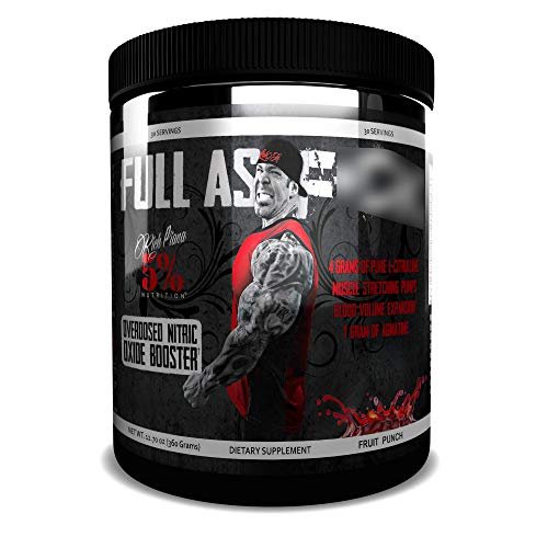 Rich Piana 5% Nutrition FAF Overdosed Nitric Oxide Boosting, Non-Stim, Pre-Workout Powder | Massive Pumps, Strength Gains & Endurance | Aminos, L-Citrulline, Agmatine | 12.7 oz (Wildberry)
