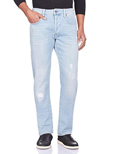 G-STAR RAW Herren Hose Rovic Zip 3D Straight Tapered, Hose Rovic Zip 3d Straight Tapered jeans Slim super Fit Jeans', 29W / 32L