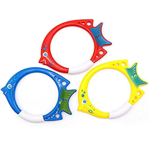 BASOYO Anillos de Buceo para niños Juguete y Juego de Piscina (Paquete de 3) Juguetes de Piscina Juego de Buceo Regalo de Entrenamiento