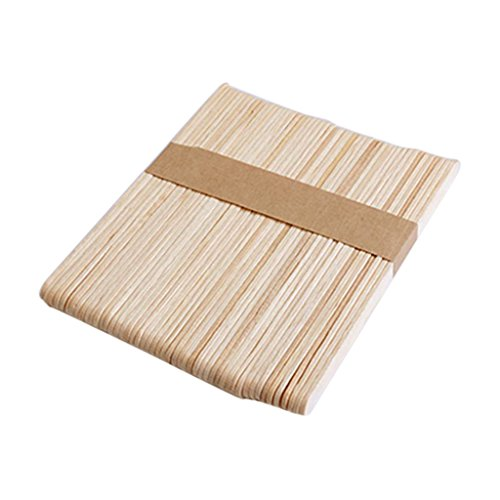 Non-brand 50 Stück Holz Hanerk Sticks,Bunte Hölzerne EIS Sticks,Gefrierschrank - Holz Farbe, 114 x 10 x 2 mm