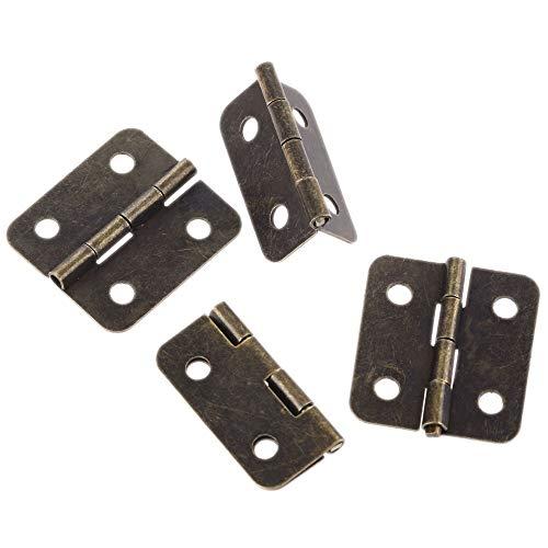 20pcs 36 * 26 mm Muebles antiguos Bisagras para joyería Caja de madera Cajón Cajón Bisagra Bisagra Bisagra decorativos para muebles Hardware Hebilla Lock Lock Pajas con tornillos