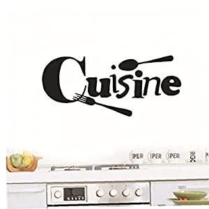 Zonster Wall Quotes Stickers, Cuisine Letter Wall Decals Wall Arts Wall Poster for Home Kitchen Decoration