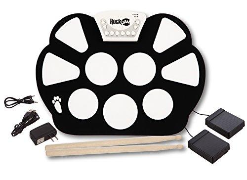 2. RockJam Portable Electronic Roll Up Drum Kit