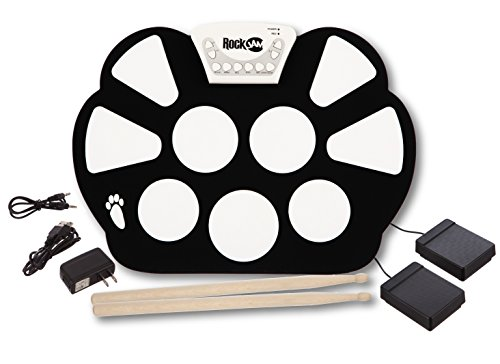 RockJam Portable Electronic Roll Up Drum Kit