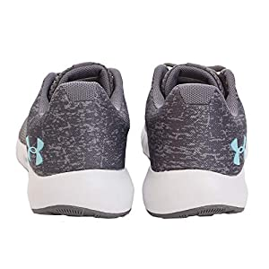 Under Armour Women's Micro G Pursuit Running Shoe, Graphite (102)/White, 6