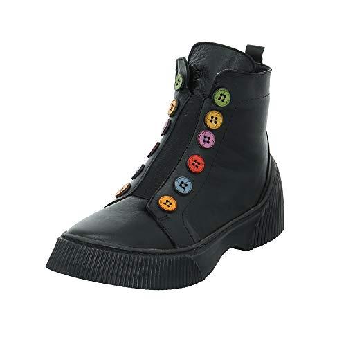 Gemini Damen Stiefeletten Stiefel 033100-02, Größe:41 EU, Farbe:Schwarz