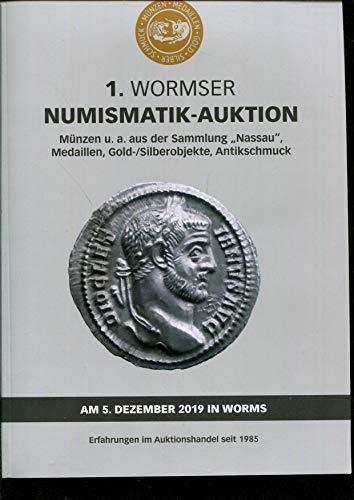 1.NIUMISMATIK- AUKTION Münzen u. a. aus der Sammlung 'Nassau' Medaillen, Gold-/Sllberobjekte, Antikschmuck