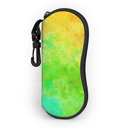 SDFGJ Gafas de sol Estuche blando Neopreno ultraligero Colorido Patrón de nubes Estuche para anteojos con cremallera y clip para cinturón