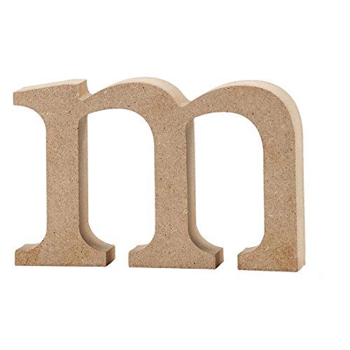 Lettre, h: 8 cm, MDF, m, 1 pièce