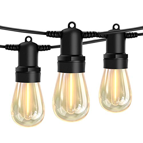 105FT LED Outdoor String Lights, Shatterproof Patio LED Lights with Dimmable S14 Bulbs UL Listed...