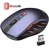 VicTsing Ratón Inalámbrico Bluetooth 4.0 & 2.4G, 5 dpi Adjustables y Control de Multi-Dispositivo, para PC, Computadora, Portátil, Mac, y...