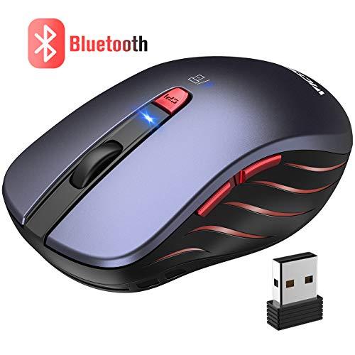 VICTSING Ratón Inalámbrico Bluetooth 4.0 & 2.4G, 5 dpi Adjustables y Control...