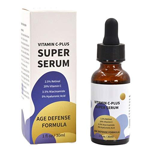 Vitamin C-Plus Super Serum Anti Aging Anti-Wrinkle Facial Serum With Retinol Niacinamide Hyaluronic Acid 30ml Moisturizing Moisturizer Hydrating