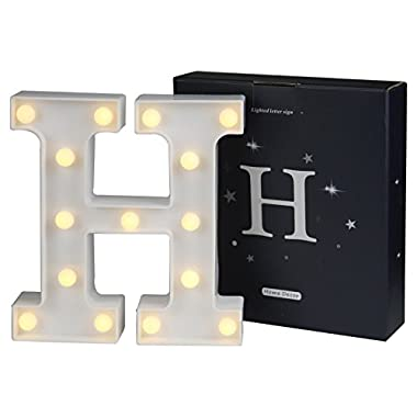 DELICORE LED Marquee Letter Lights Alphabet Light Up Sign for Wedding Home Party Bar Decoration H