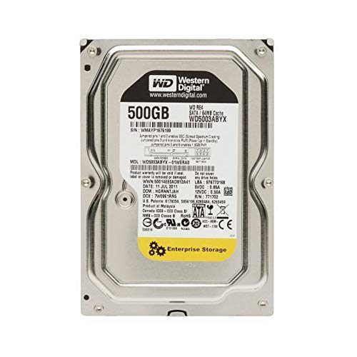 Western Digital 500GB RE4Enterprise desktop 3.5in SATA 7200rpm hard drive–OEM (Refurbished)