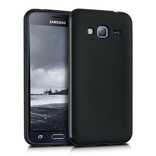kwmobile Hülle kompatibel mit Samsung Galaxy J3 (2016) DUOS - Handyhülle - Handy Case in Schwarz matt
