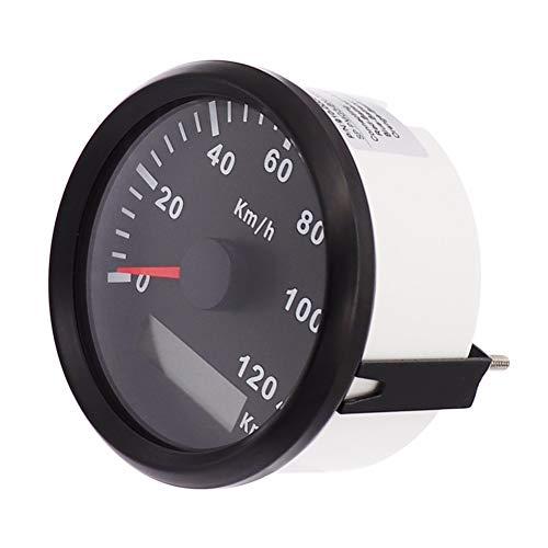 ELING GPS Velocímetro Medidor Velómetro 120KM/H para Coche Moto Barco Yate con Retroiluminación 85mm 12V/24V