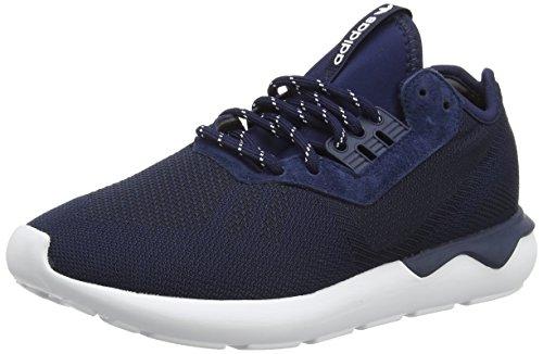 adidas Tubular Runner Weave Zapatillas de Running, para Hombre, Azul Blue (Collegiate Navy/Collegiate Navy/White), Talla 46 2/3 EU
