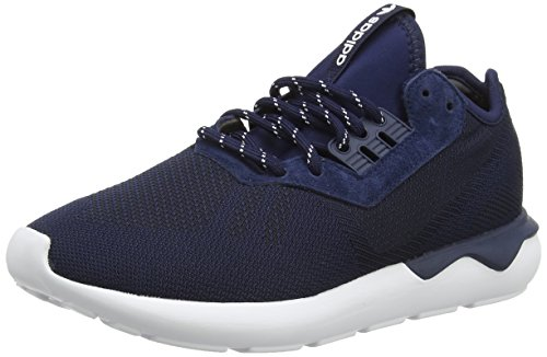adidas Tubular Runner Weave, Scarpe da corsa uomo, Blu (Blue (Collegiate Navy/Collegiate Navy/White)), 42 2/3