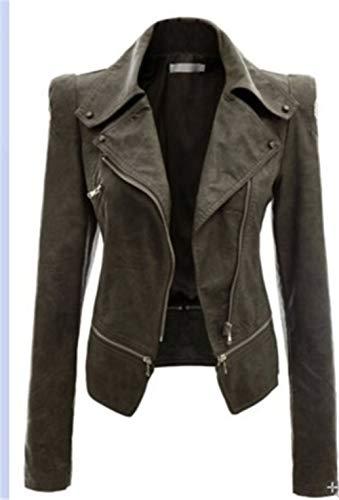 XZYP motorfiets lederen jas jas, dames imitatieleer stand-up kraag moto Biker korte jas