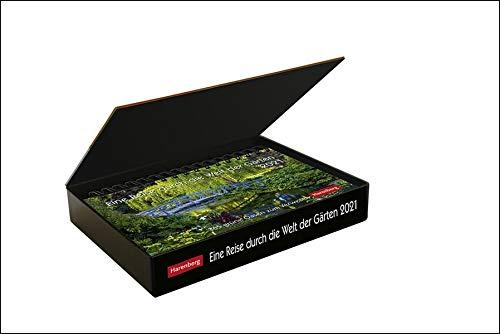 Eine Reise durch die Welt der Gärten Premiumkalender 2021 - Tagesabreißkalender zum Aufstellen - Tischkalender mit hochwertigen Farbfotografien - in Geschenkbox - Format 23 x 17 cm