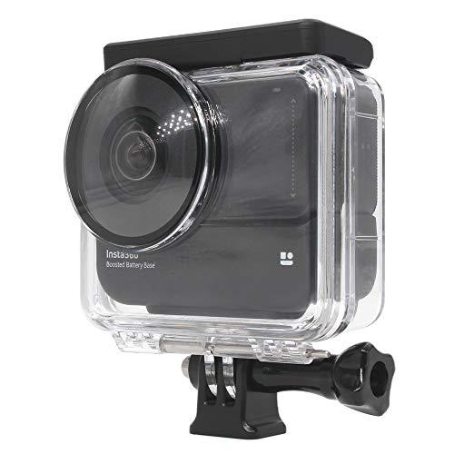 Taoric Insta360 ONE R 対応(新)バッテリー強化版 防水ケース/ダイビング保護カバー(For 360パノラマモード)