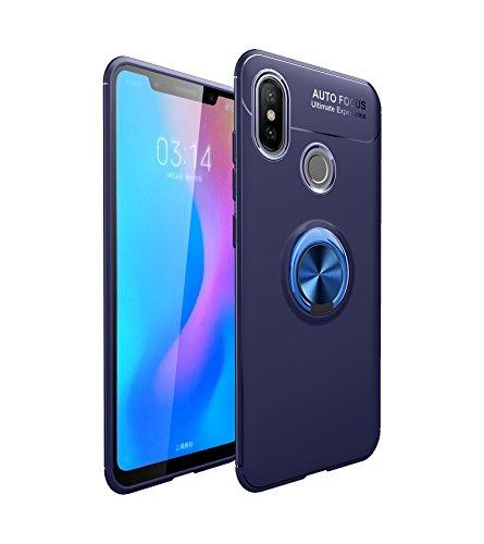 Funda Xiaomi Mi A2 Teléfono Móvil Silicona Bumper Case Funda con Anillo Giratorio de 360 Grados Rotaria Ring Holder Protectora Caso (1, Xiaomi Mi A2)