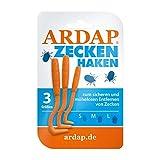 ARDAP Zeckenzange und Zeckenhaken 3er Pack - Einfach und effektiv - Premium Zeckenschutz für alle Tierarten - Zuverlässig gegen Zecken jeder Größe