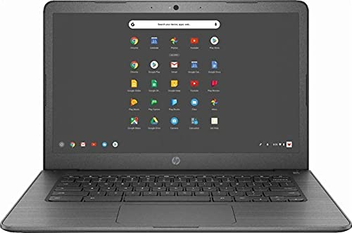 Newest HP 14-inch Chromebook HD Touchscreen Laptop PC (Intel Celeron N3350 up to 2.4GHz, 4GB RAM, 32GB Flash Memory, WiFi, HD Camera, Bluetooth, Up to 10 hrs Battery Life, Chrome OS , Black ) (Renewed