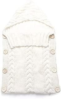 ouying1418 Newborn Baby Infant Sleeping Bag Acrylic Fibers Hoodies Swaddle Wrap Sweater
