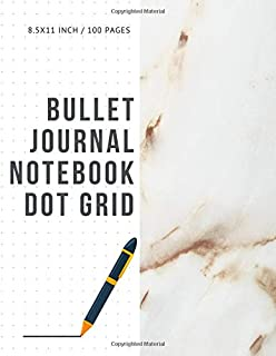 Bullet Journal Notebook Dot Grid: Cheap Composition Journals Books College Ruled To Write In Letter Paper Size 8.5 X 11 Volume 19