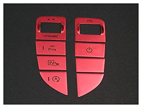 para Mercedes para B-ENZ E Class W213 Consola Central Cambio De Marchas Multimedia Interruptor De Ratón Botones Cubre Pegatinas Accesorios Molduras Interiores (Color : Rojo)
