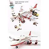 GXT Modelos de niño y niña Rompecabezas de Montaje de aeronaves Puzzles y la inserción de pasaje de Gran tamaño de Montaje de Aviones Concentración (Color : Large Plane)