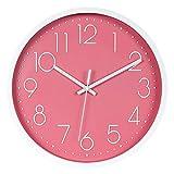 FFDGHB Relojes De PláStico Mudo Sin Goteo Reloj De Pared EstéReo Digital Escala Reloj Moda Sala De Estar Familia Reloj De Pared 12In