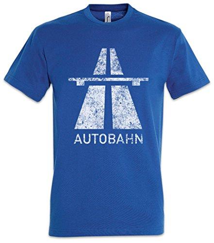 Urban Backwoods Autobahn Herren T-Shirt Blau Größe XL