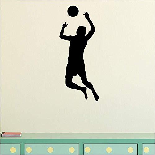 Volleyball Player Wandaufkleber Dekoration Zubehör Für Wohnzimmer Entfernbare Wandaufkleber Vinyl Decals43 * 52 Cm