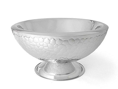 Zilverstad Croco Design Champagne Bowl Dubbele Muur, Groot, roestvrij staal, Zilver, 43 x 43 x 23 cm