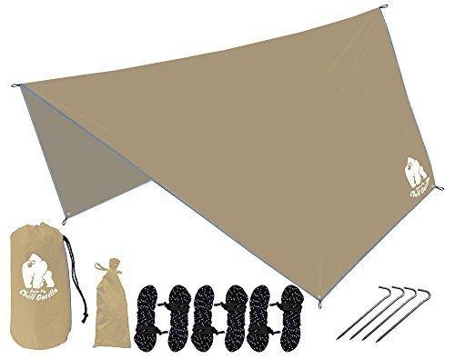 Chill Gorilla HEX Hammock Rain Fly Camping Tarp. Ripstop...