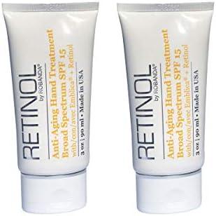 Retinol by Robanda Anti Aging Hand Treatment Broad Spectrum SPF 15 Retinol 2 pack product image
