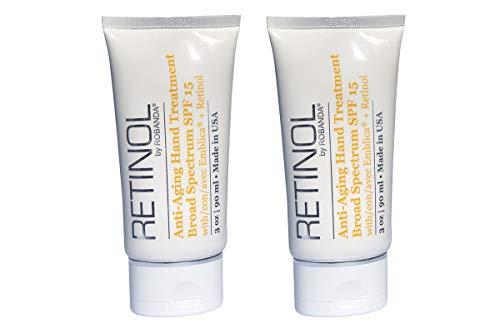 Retinol by Robanda Anti-Aging Hand Treatment - Broad Spectrum SPF 15 + Retinol, 2 pack